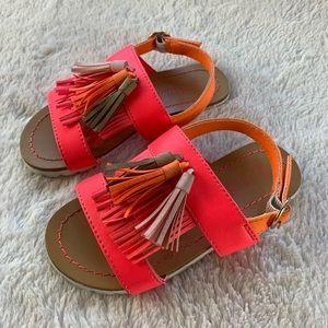 Billieblush Neon Tasseled Sandals